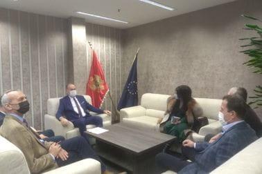 Sasatanak sa predstavnicima Stonoteniskog saveza Crne Gore