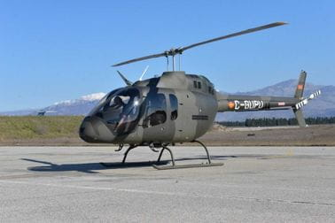 Novi BELL 505 stigao na vojni aerodrom u Podgorici