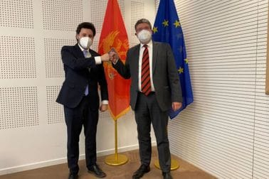 Dritan Abazović - Tonino Picula, izvjestilac Evropskog parlamenta za CG