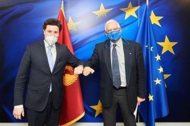 Dritan Abazović - Žozep Borelj Fonteljes, visoki predstavnik EU za bezbjednost i spoljnu politiku