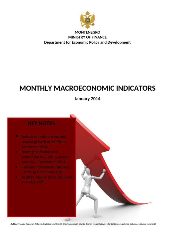Montly Macroeconomic Indicators January 2014