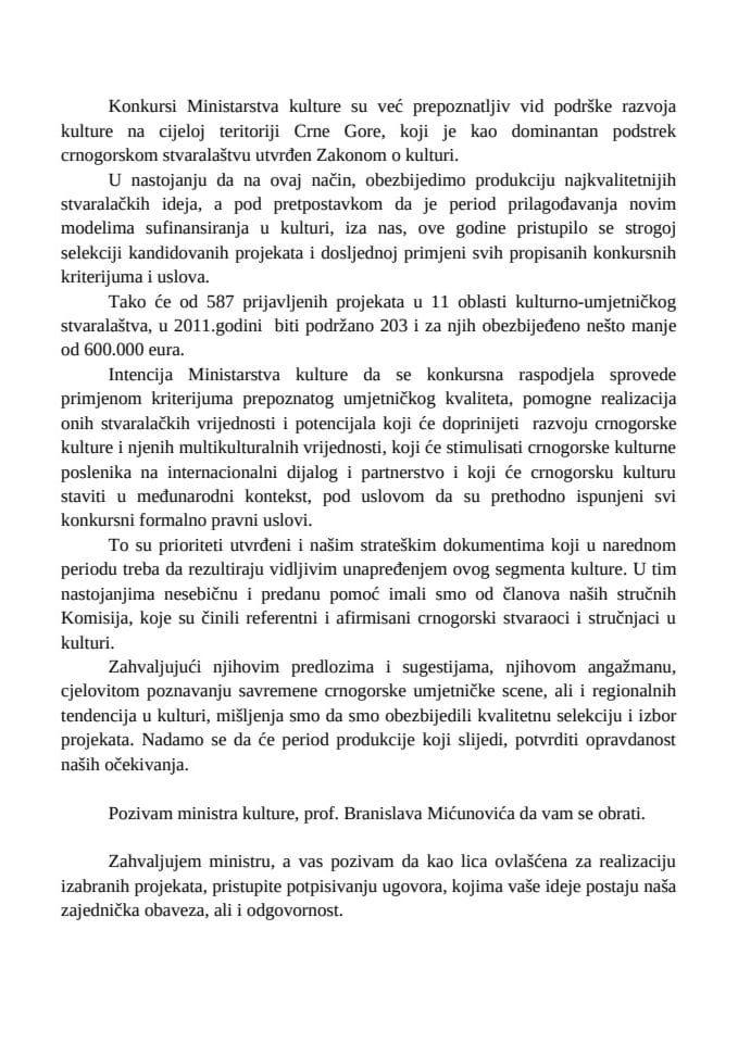 Govor_Pomocnica Ministra_Dragica Milic
