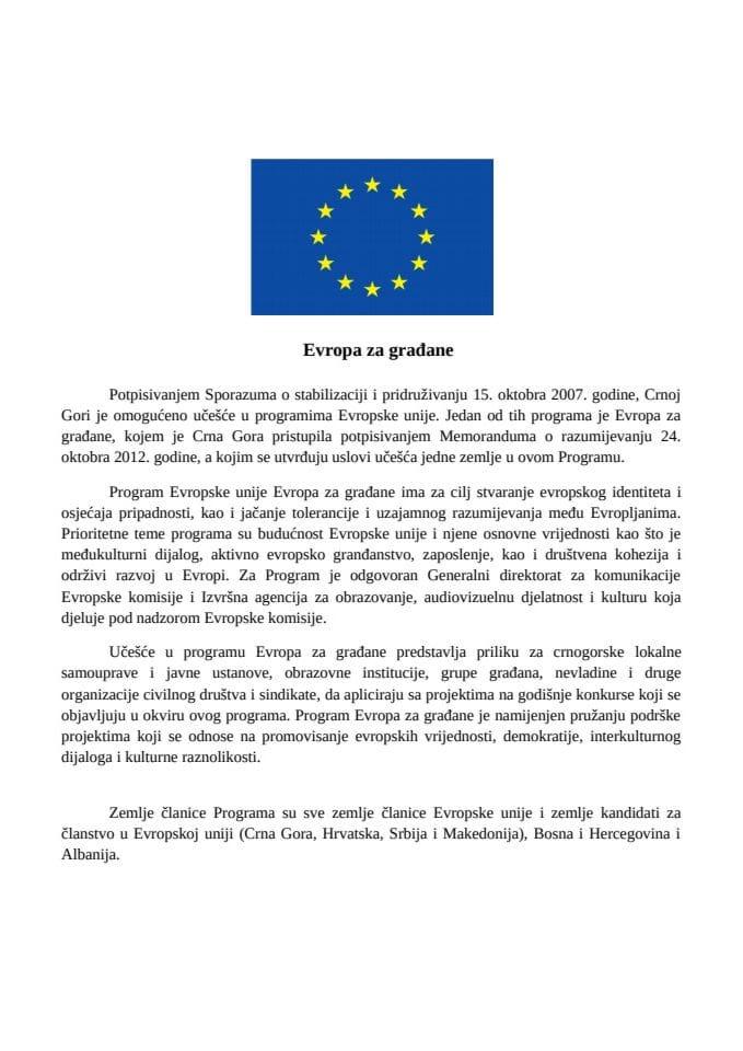 Program Evropa za gradjane