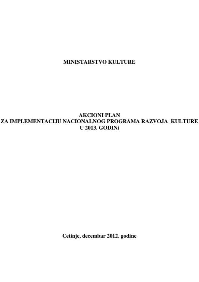 Akcioni plan 2013