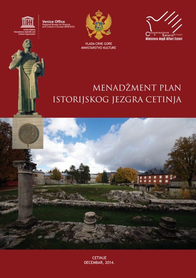 Menadzment plan istorijskog jezgra Cetinja