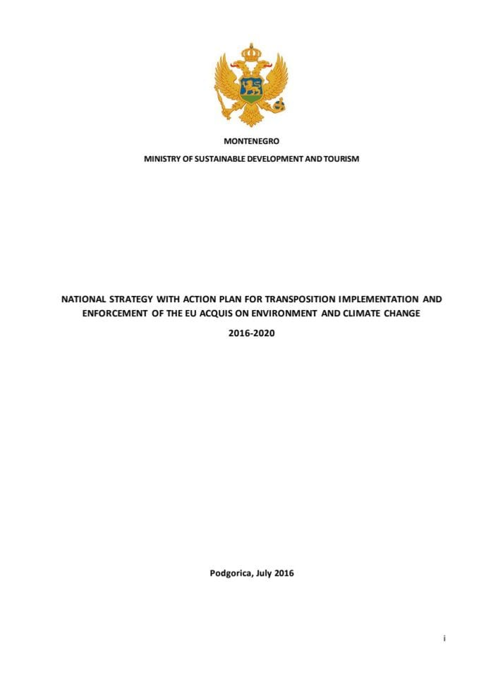 National Strategy with Action plan for transposition, implementation and enforcement of the EU