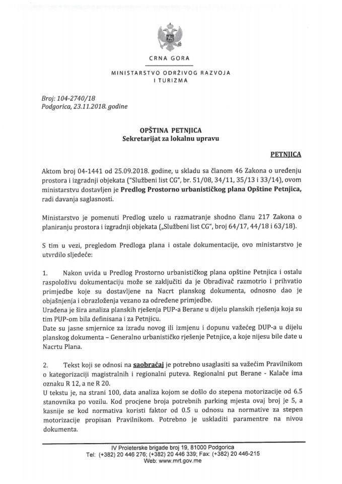 104-2740_18 Predlog Prostorno urbanističkog plana Opštine Petnjica