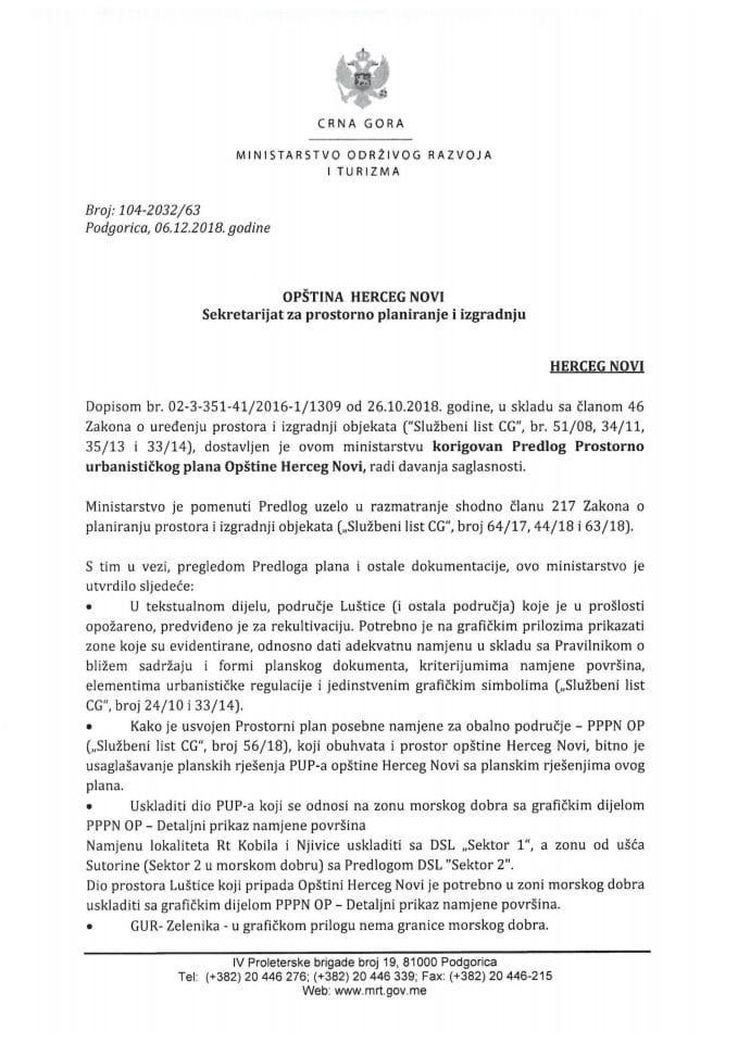 104-2032_63 Korigovan Predlog Prostorno urbanističkog plana Opštine Herceg Novi
