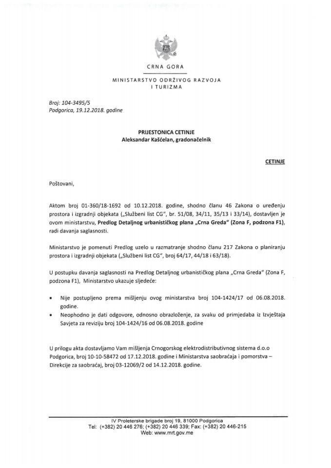 104-3495_5 Predlog DUP-a Crna Greda-zona F,podzona F1, Prijestonica Cetinje