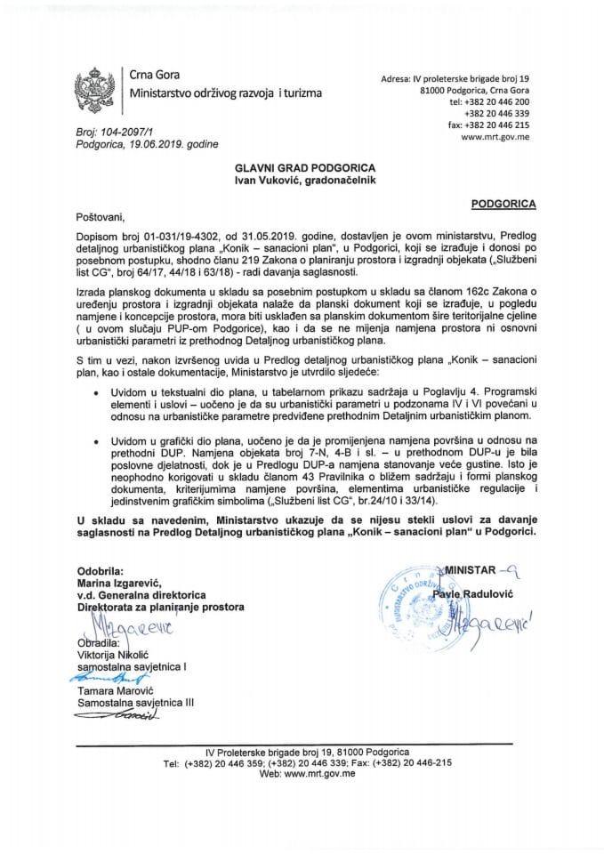 104-2097_1 Predlog DUP Konik sanacioni plan