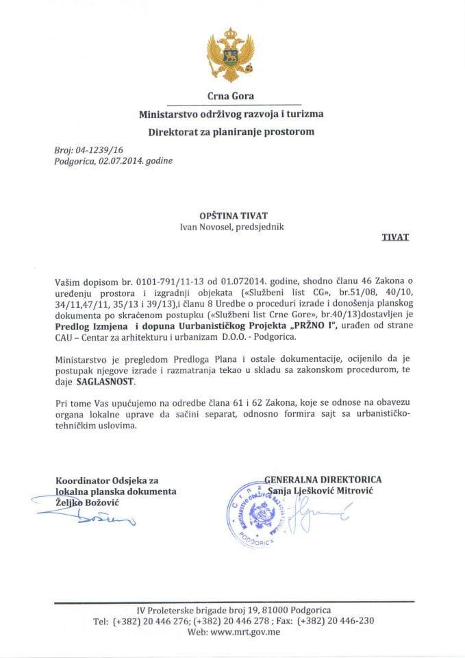04_1239_16 Saglasnost na predlog IID UP Przno I Opstina Tivat