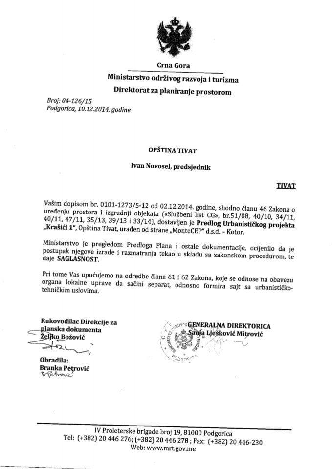 04_126_15 Saglasnost na Predlog UP Krasici Opstina Tivat