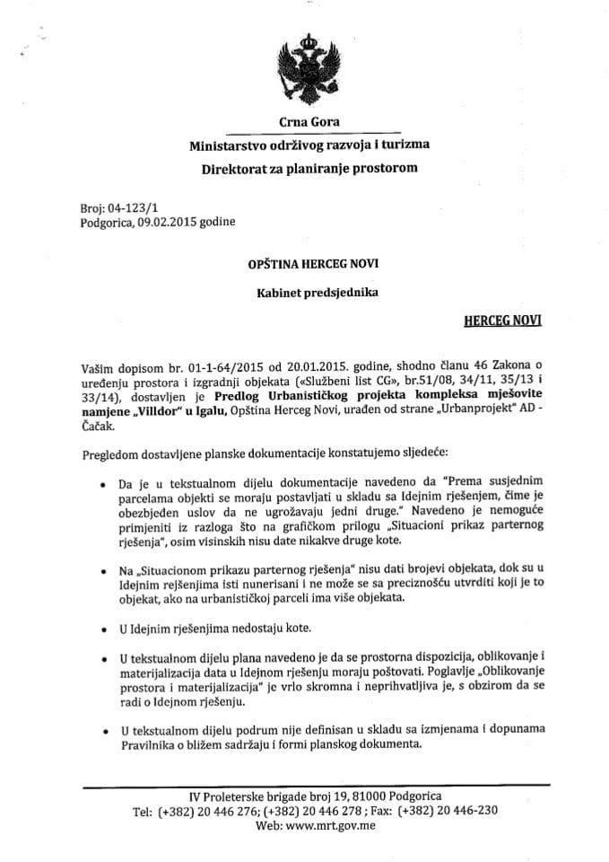 04_123_1 Predlog UP Villdor Igalo Opstina Herceg Novi