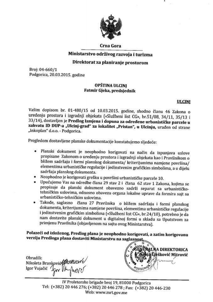 04_660_1 Predlog IID DUPa Ulcinj grad za lokalitet Pristan Opstina Ulcinj