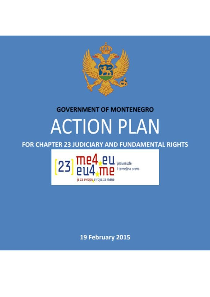 ACTION PLAN FOR CHAPTER 23 JUDICIARY AND FUNDAMENTAL RIGHTS