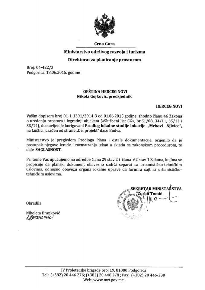 04_422_3 Saglasnost na Predlog LSL Mrkovi-Njivice Opstina Herceg Novi
