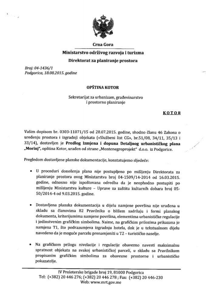 04_1436_1 Predlog IID DUP-a Morinj Opstina Kotor