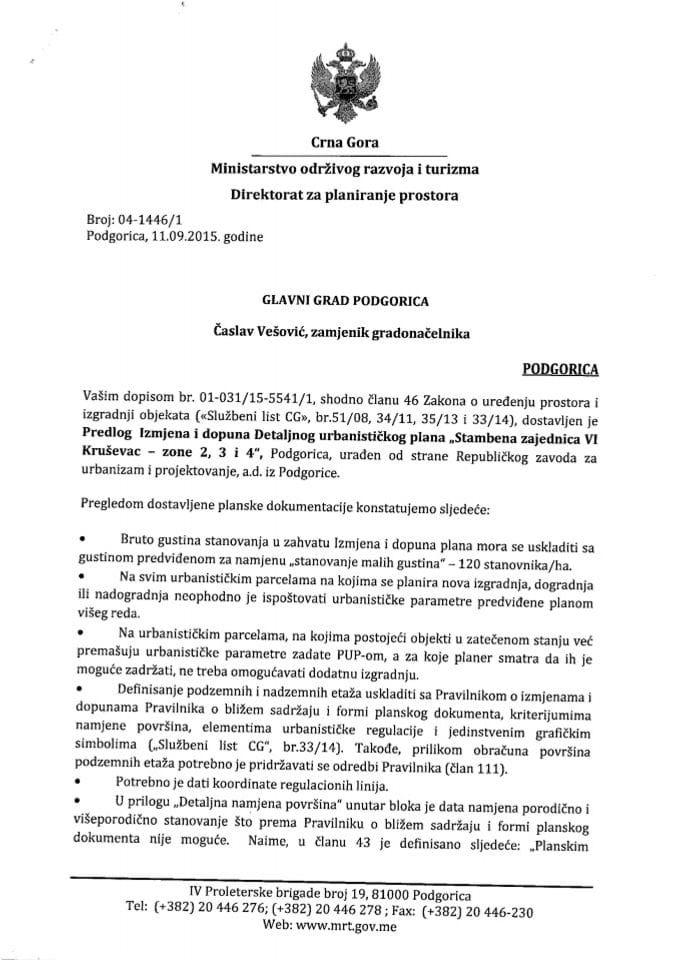 04_1446_1DUP-a Stambena jedinica VI Krusevac zona 2,3,4 Glavni grad Podgorica