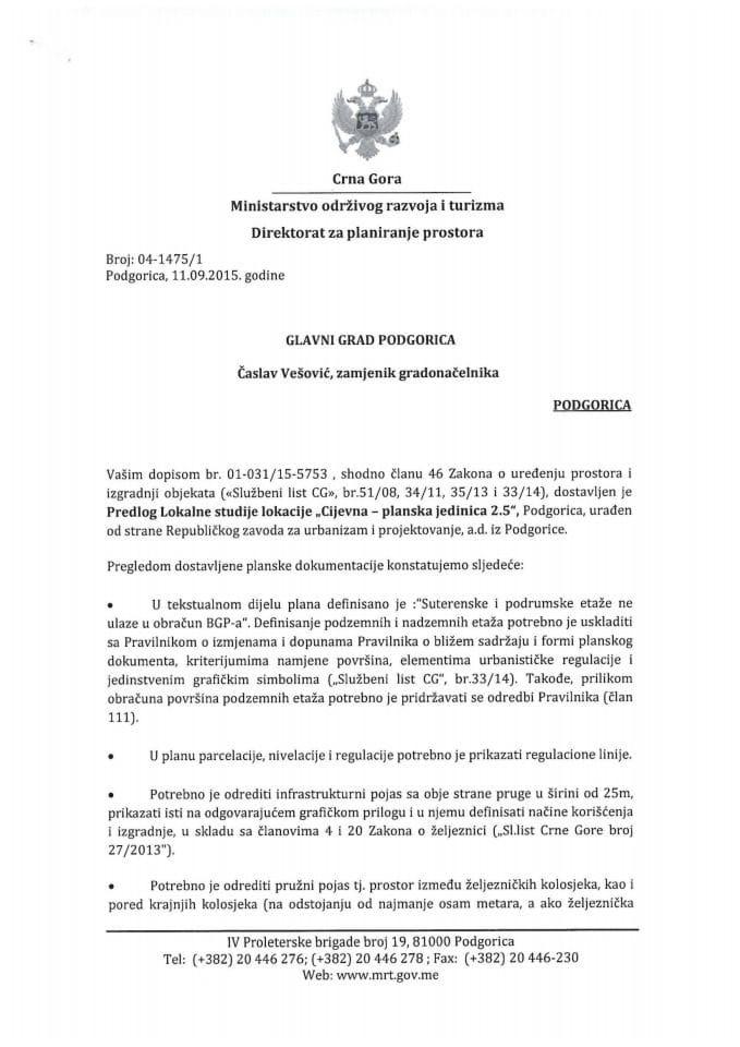 LSL Cijevna-planska jedinica 2.5