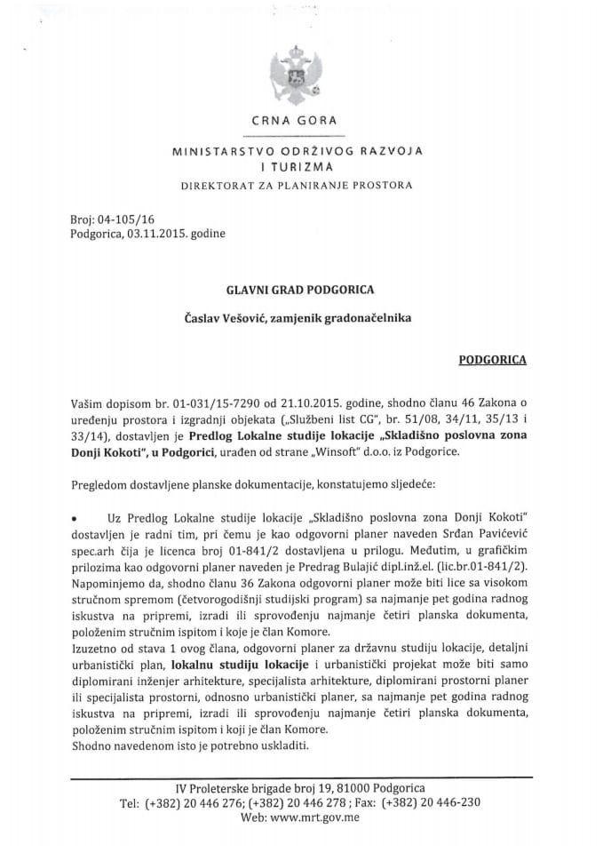 04-105_16 Predlog Lokalne studije lokacije Skladisno poslovna zona Donji Kokoti