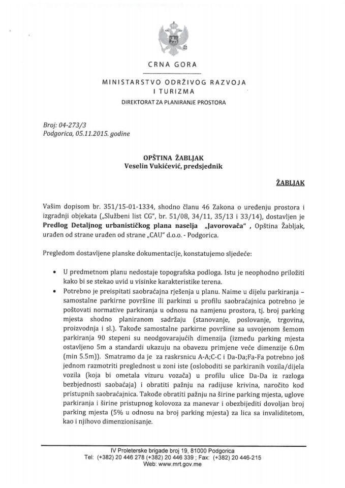 04_273_3 Predlog Detaljnog urbanistickog plana baselja 'Javorovaca', opstina Zabljak