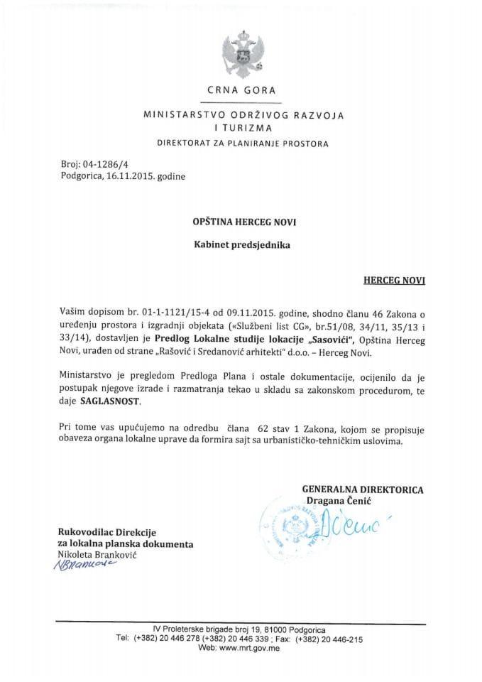 04-1286_4 Saglasnost na Predlog LSL Sasovici opstina Herceg Novi