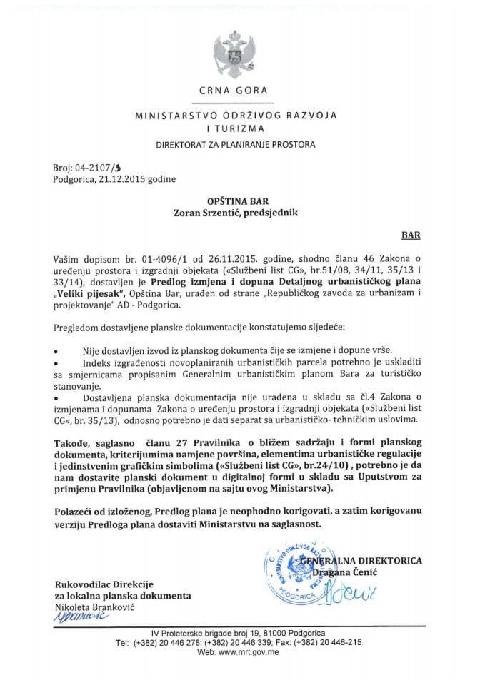 04-2107_3 Predlog IID DUP-a Veliki Pijesak, Bar