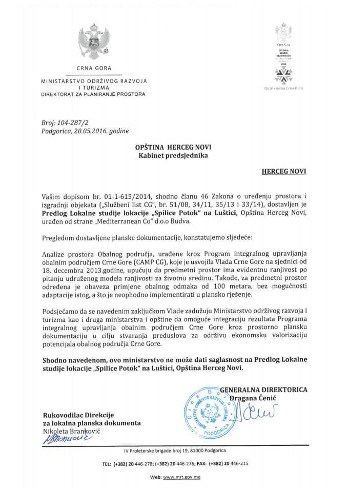 104_287_2 Predlog LSL Spilice Potok na Lustici Opstina Herceg Novi