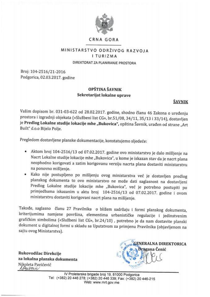 104-2516_21-2016 Predlog LSL mhe Bukovica opstina Savnik