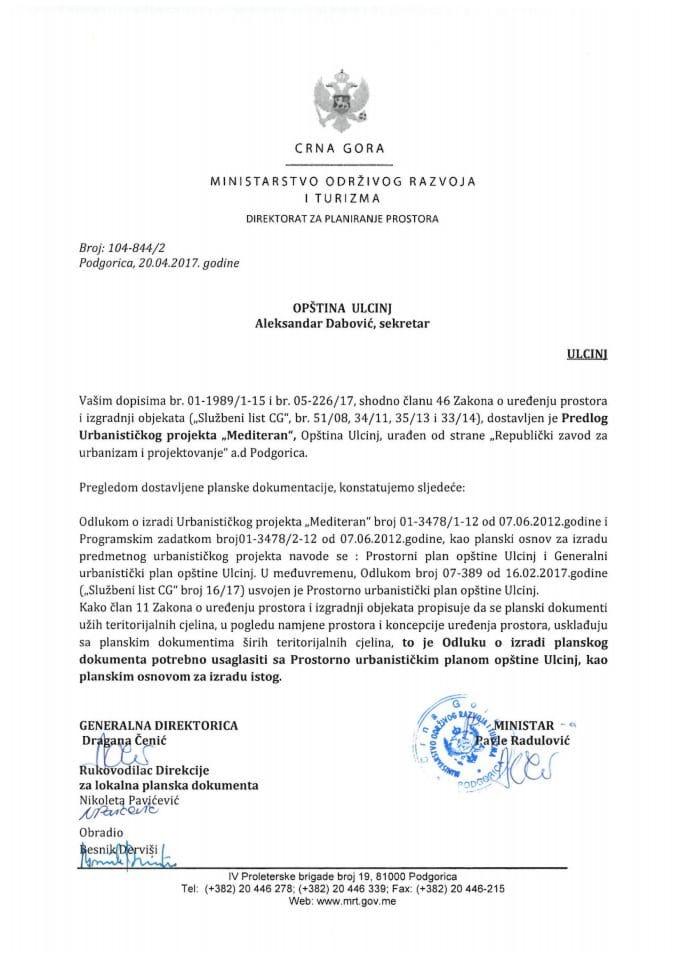 104-844_ Predlog Urbanistickog projekta Mediteran, Tivat