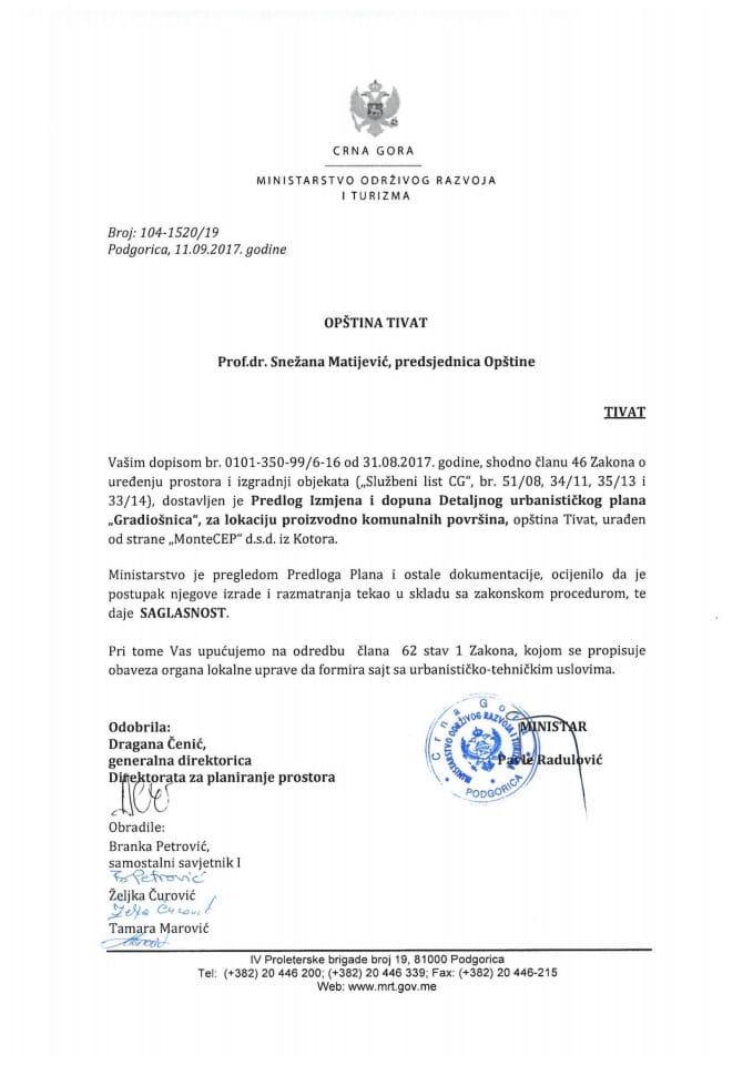 104-1520_19 Saglasnost na Predlog IID DUP Gradiosnica