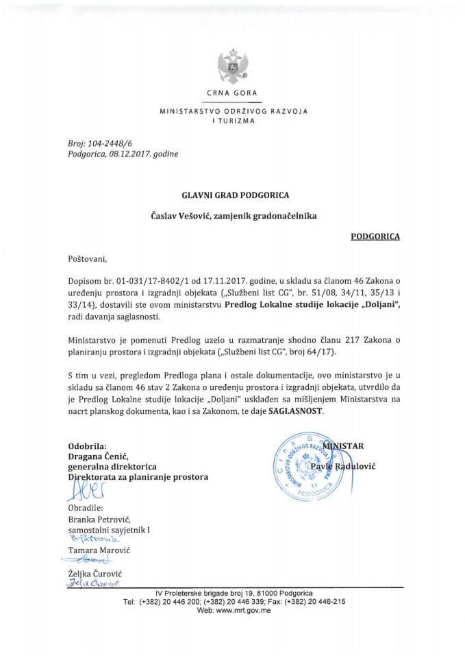 104-2448_6 Saglasnost na LSL Doljani, Glavni grad Podgorica