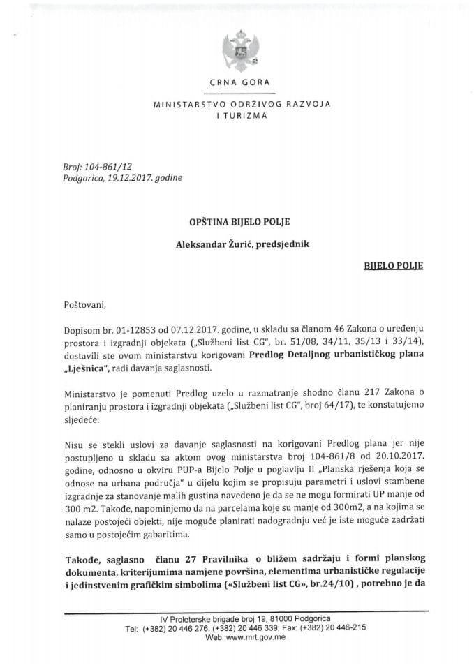 104-861_12 Korigovani Predlog DUP Lješnica, opstina Bijelo Polje