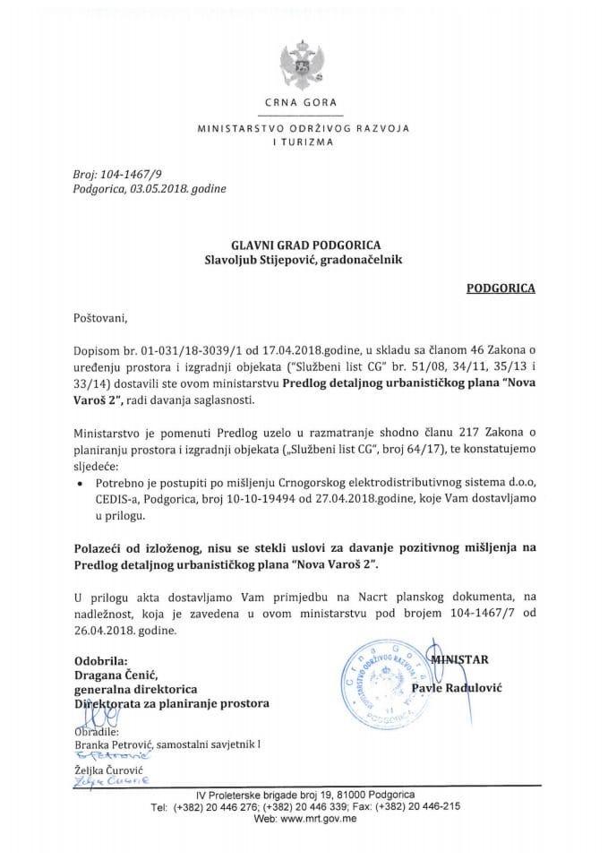 104-1467_9 Predlog DUP Nova Varoš 2, Glavni grad Podgorica