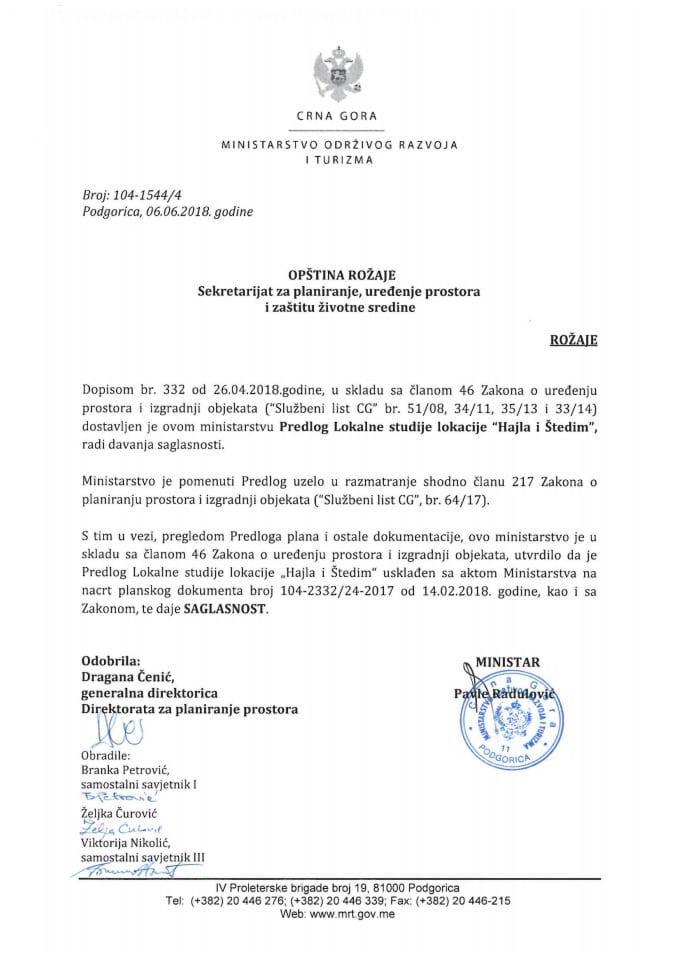 104-1544_4 Saglasnost na Predlog LSL Hajla i Štedim, Opština Rožaje