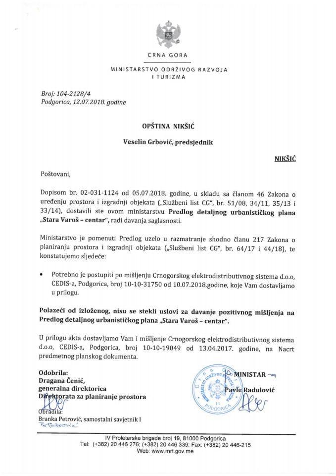 104-2128_4 Predlog DUP Stara Varoš-centar, Opština Nikšić