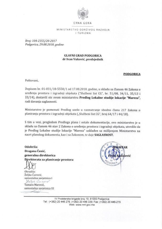 104_2355_20_2017 Predlog LSL Mareza Glavni grad Podgorica