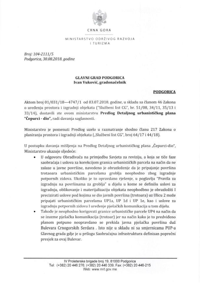 104_2111_5 Predlog DUP Čepurci Glavni grad Podgorica