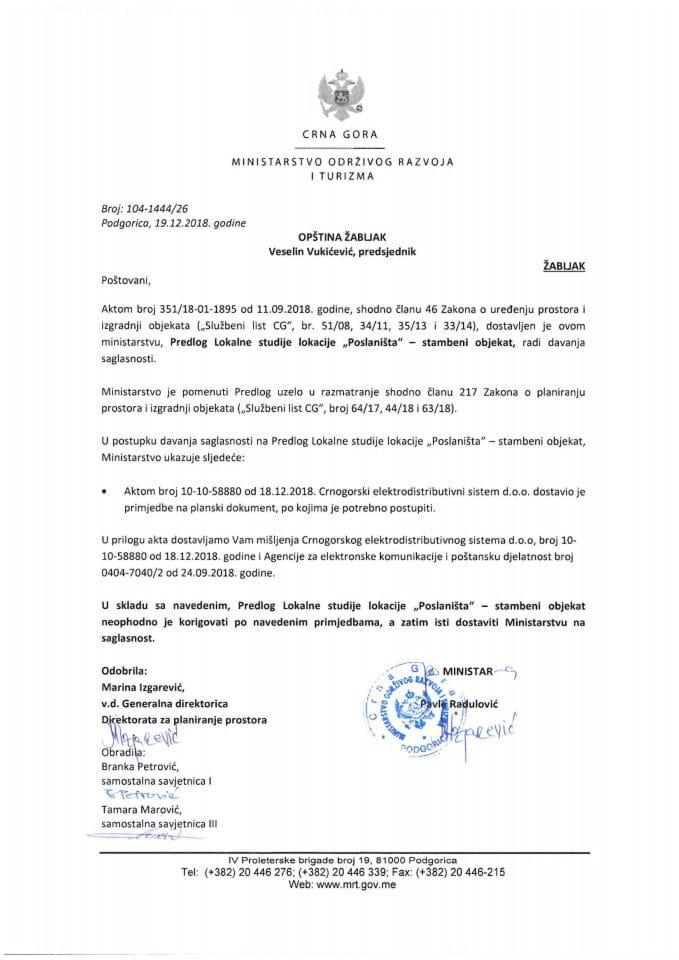 104-1444_26 Predlog LSL Poslaništa-stambeni objekat, Opština Žabljak