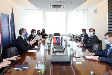 Milojko Spajić i Jakov Milatović sa potpredsjednikom Vlade i ministrom finansija Hrvatske, dr Zdravkom Marićem