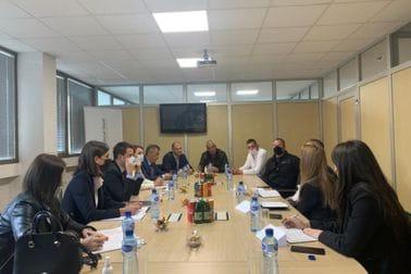 "Delegacija ministarstva ekonomskog razvoja na sastanku u željezari ""Toščelik"""