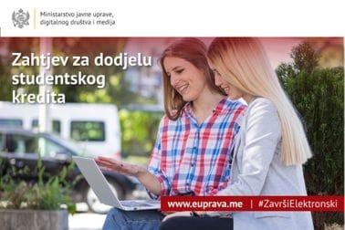 Podnesi zahtjev za dodjelu studentskog kredita
