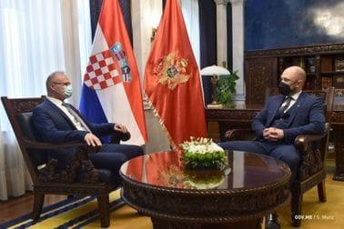 Crna Gora i Hrvatska bliski susjedi i prijatelji, konkretizovati saradnju u ekonomiji