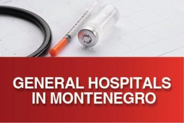 General hospitals in Montenegro