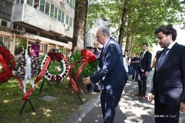 Polaganje vijenca na mjesto ubistva Duška Jovanovića