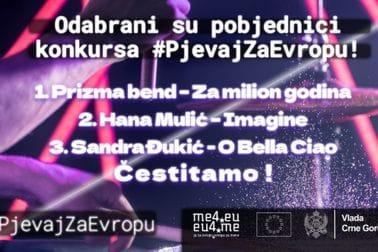 Pobjednici konkursa #PjevajZaEvropu