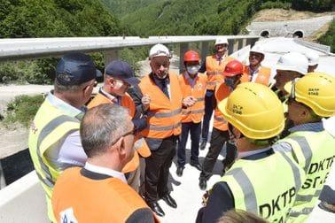 PM Krivokapić and Minister Bojanić visit motorway construction site