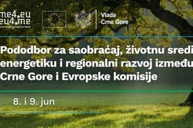 Pododbor za saobraćaj, životnu sredinu, energetiku i regionalni razvoj između Crne Gore i Evropske komisije