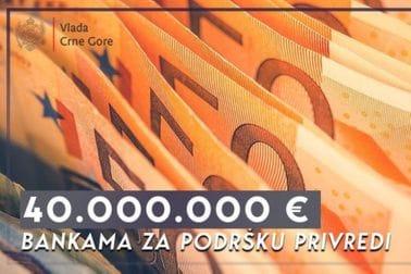 40mil eura bankama za podršku privredi