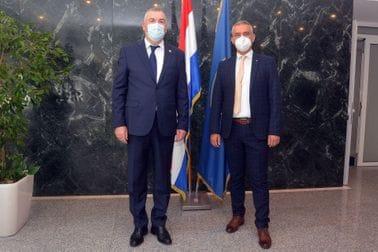 Brđanin i Milina u Zagrebu razgovarali o nastavku uspješne saradnje dvije policije